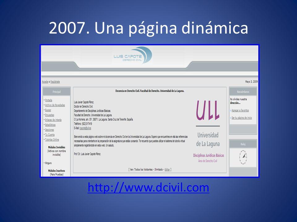 2007. Una página dinámica http://www.dcivil.com