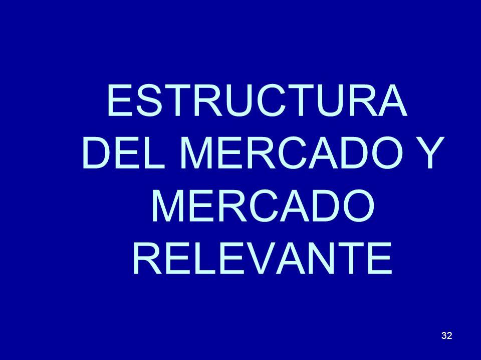 32 ESTRUCTURA DEL MERCADO Y MERCADO RELEVANTE