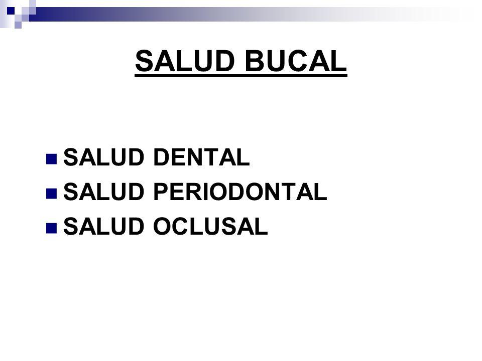 SALUD BUCAL SALUD DENTAL SALUD PERIODONTAL SALUD OCLUSAL