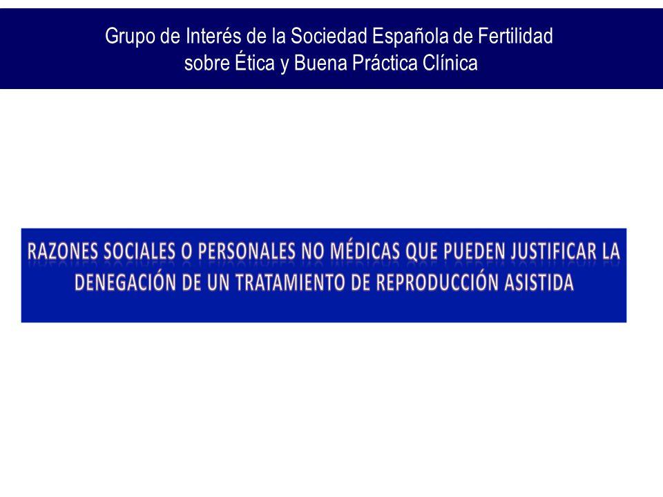 Grupo de Interés de la Sociedad Española de Fertilidad sobre Ética y Buena Práctica Clínica