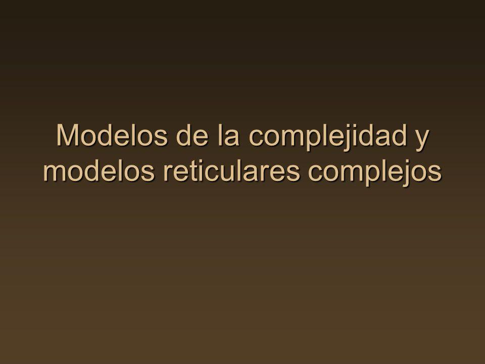 Modelos de la complejidad y modelos reticulares complejos