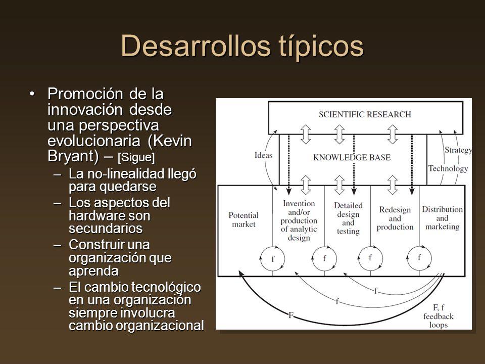 Desarrollos típicos Promoción de la innovación desde una perspectiva evolucionaria (Kevin Bryant) – [Sigue]Promoción de la innovación desde una perspe