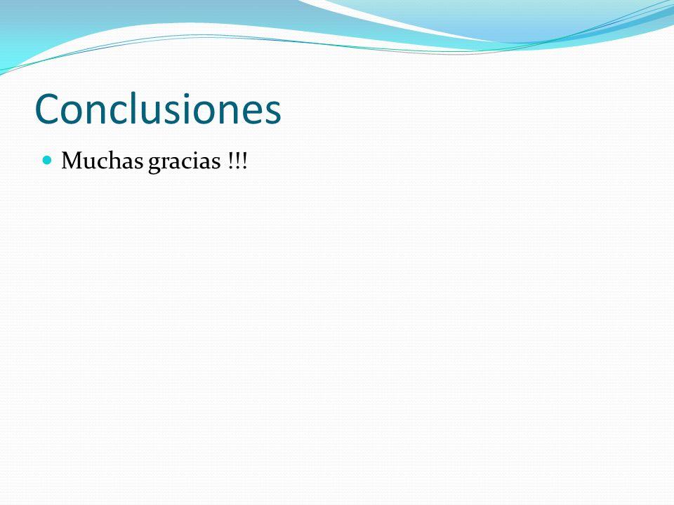 Conclusiones Muchas gracias !!!