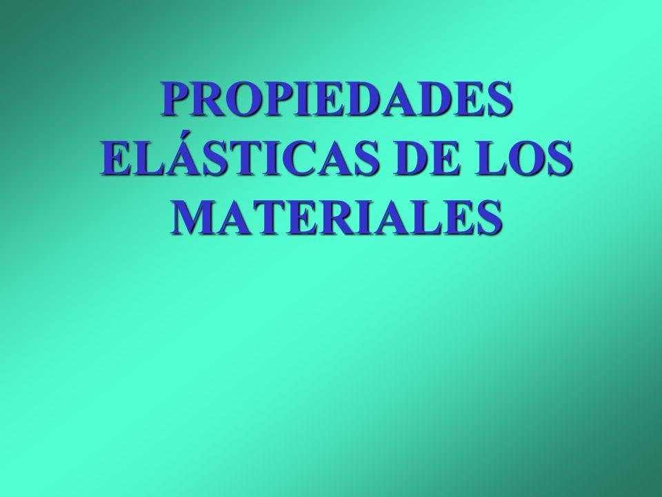 ELASTICIDAD -Introducción -Esfuerzo y deformación: módulo de Young -Contracción lateral -Compresibilidad -Elasticidad por deslizamiento o cizalladura