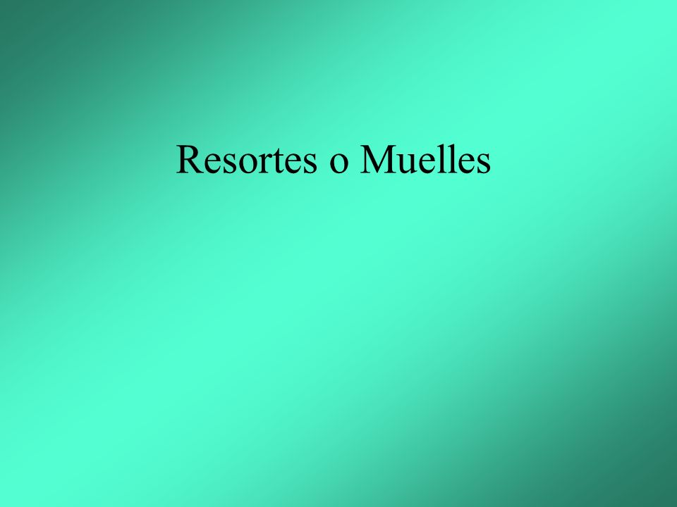 Resortes o Muelles