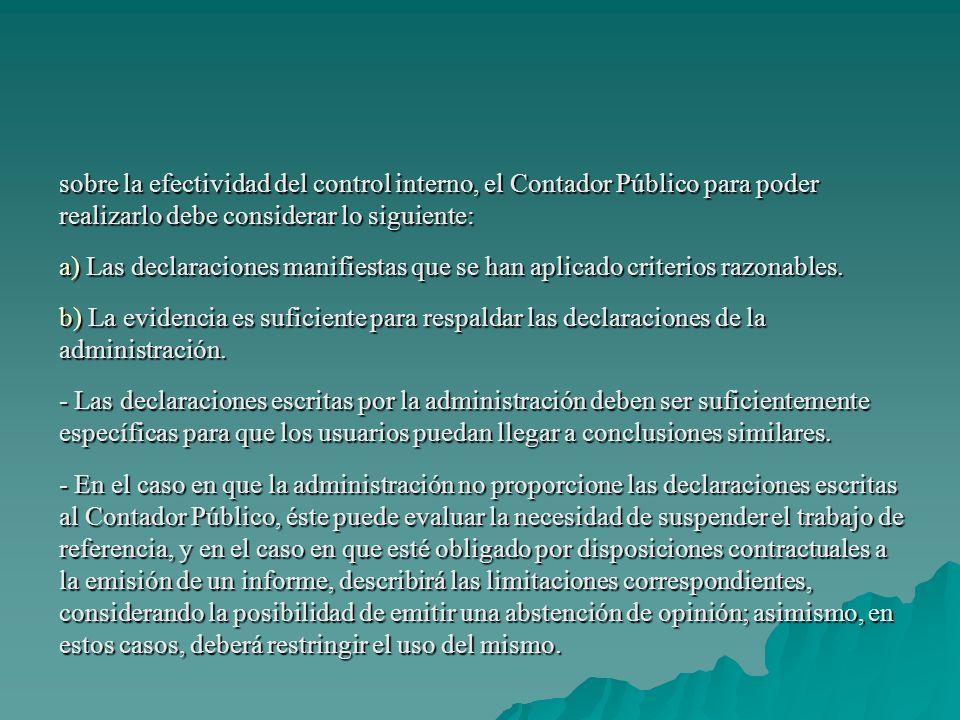 Pronunciamientos Normativos Relativos a la Aplicación de Procedimientos Convenidos.