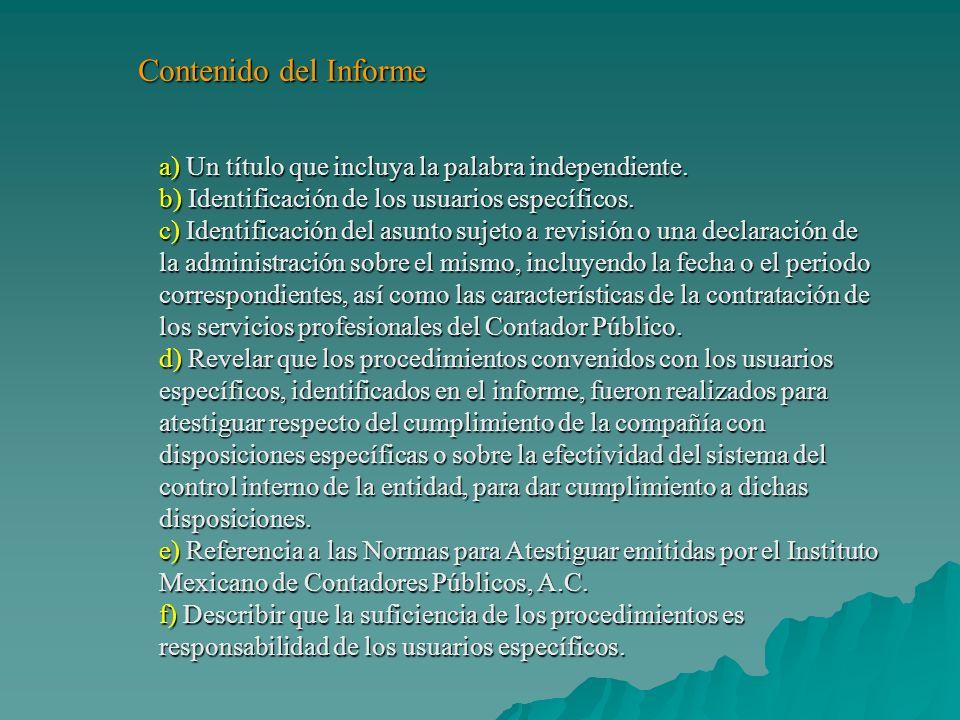 Eliécer Varela y Socios, S.C.Informe del Contador Público Independiente A los Sres.