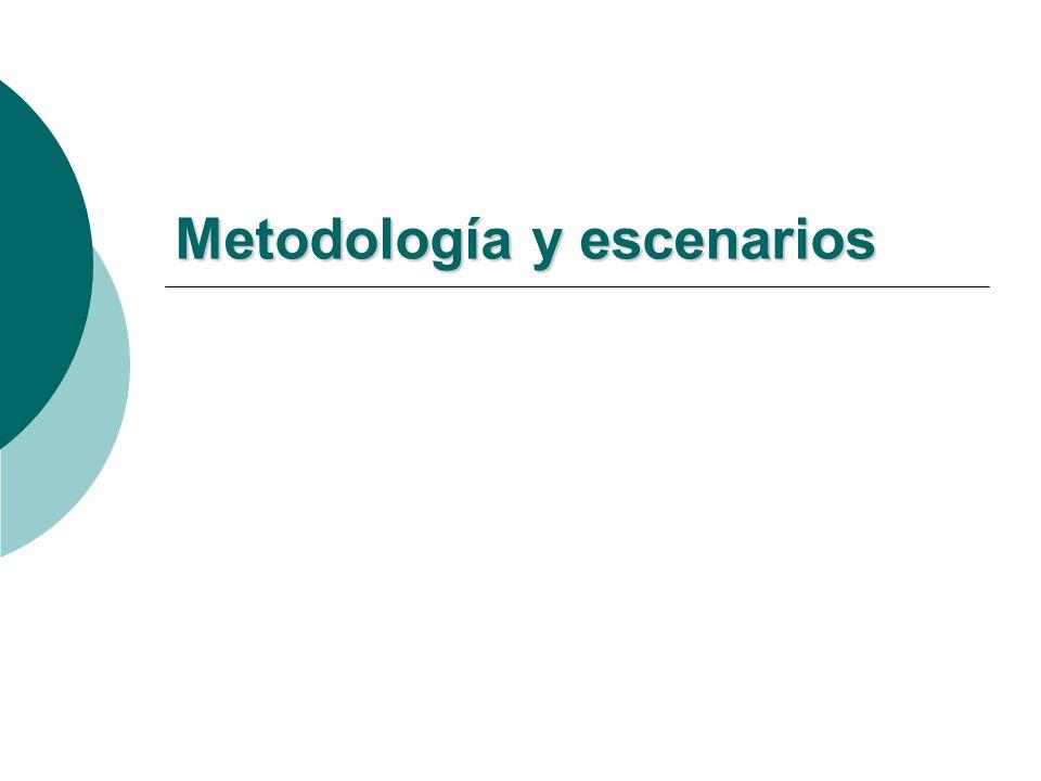 Metodología y escenarios