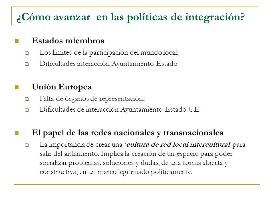 ¿Cómo avanzar en las políticas de integración.