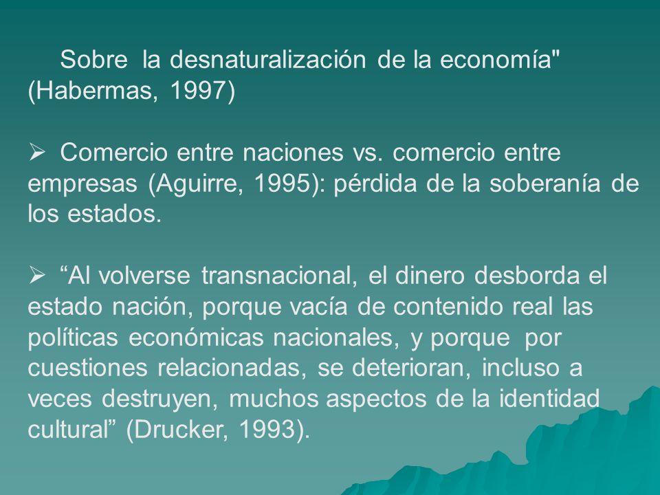 Sobre la desnaturalización de la economía