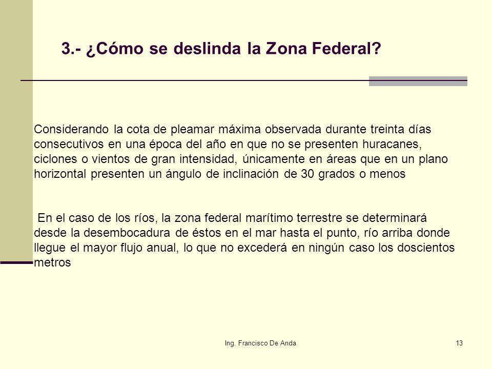 Ing. Francisco De Anda12 Artículo 7 de la Ley General de Bienes Nacionales. Bienes de Uso Común: ARTÍCULO 7.- Son bienes de uso común: I.- El espacio