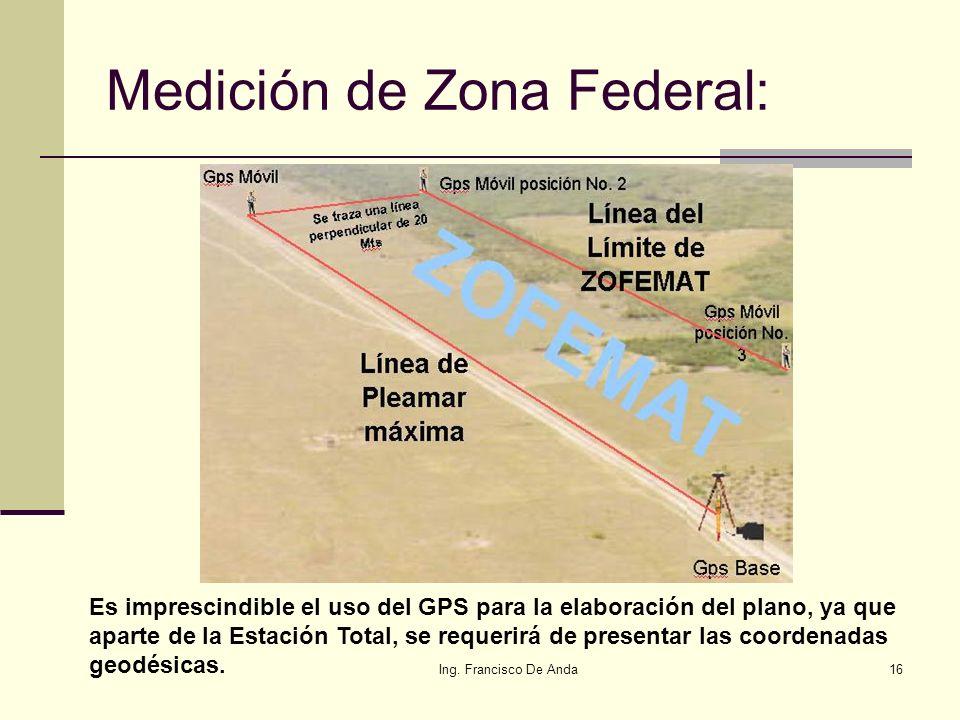 Ing. Francisco De Anda15 Reglamento para el uso y aprovechamiento del mar territorial, vías navegables, playas, zona federal marítimo terrestre y terr