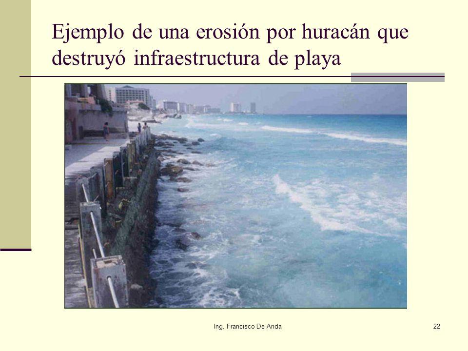 Ing. Francisco De Anda21 Los huracanes son causas naturales por las cuales se puede modificar el lindero oficial de la zona federal y puede ser para a