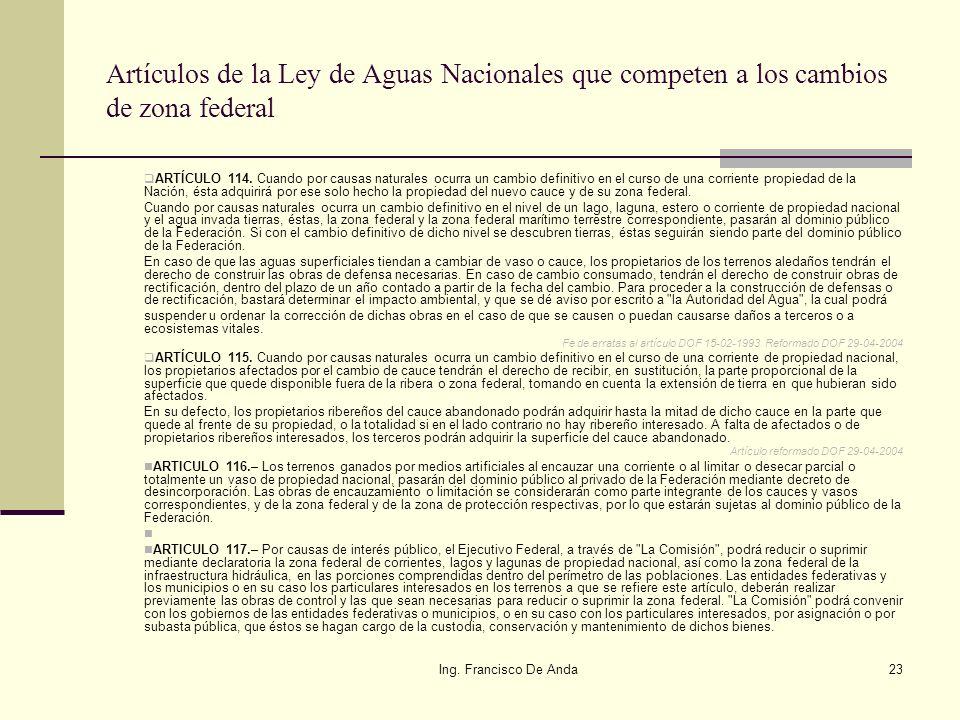 Ing. Francisco De Anda22 Ejemplo de una erosión por huracán que destruyó infraestructura de playa