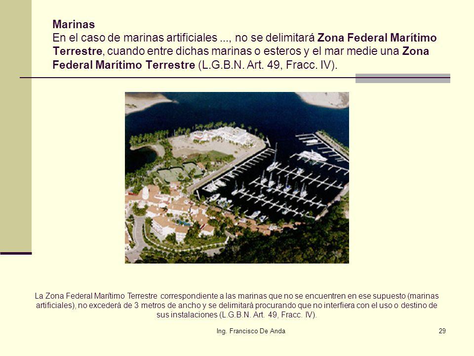 Ing. Francisco De Anda28 Razonamientos del valor aplicable a los espejos de agua y terrenos ganados al mar. 7. Por lo anterior, entonces el valor del