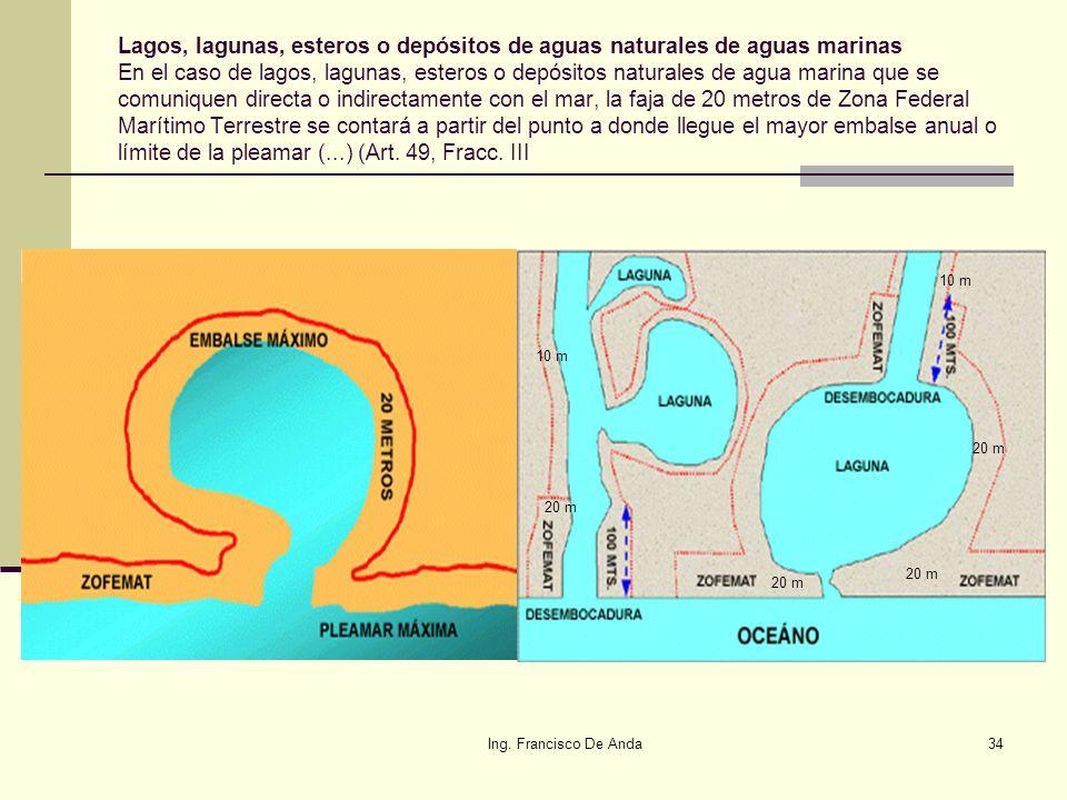 Ing. Francisco De Anda33 Cayos y arrecifes: La totalidad de la superficie de los cayos y arrecifes ubicados en el mar territorial, constituirán Zona F