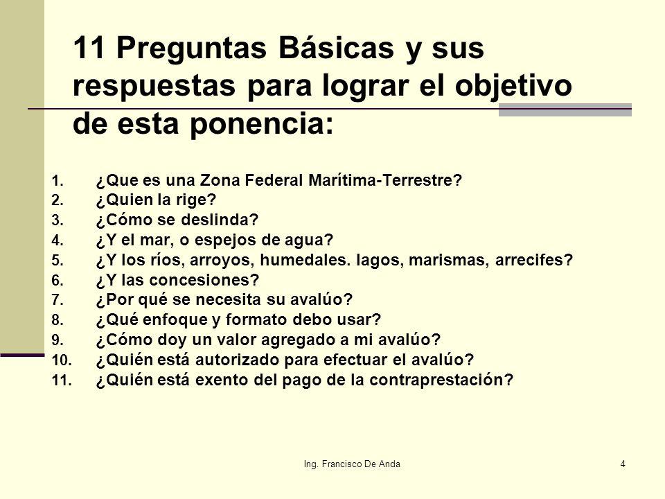 Ing.Francisco De Anda44 Quienes intervienen en ZOFEMAT.