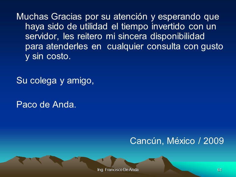 Ing. Francisco De Anda60 SEMARNAT: