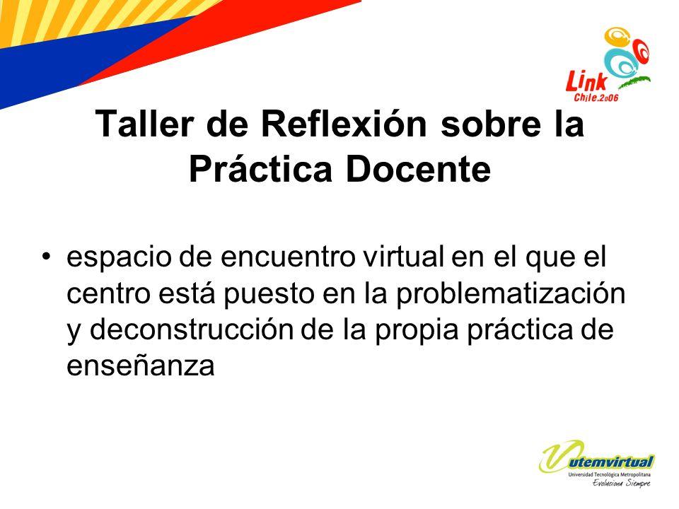 Taller de Reflexión sobre la Práctica Docente espacio de encuentro virtual en el que el centro está puesto en la problematización y deconstrucción de