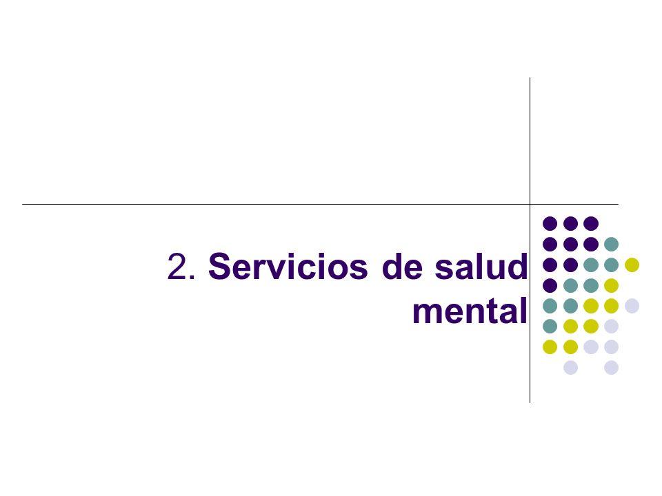 FAMILIA COMUNIDAD HOSPITAL CENTRO DE SALUD PUESTO DE SALUD Organización de los servicios de salud mental La Dirección de Salud Mental, bajo la responsabilidad de la Dirección General de Salud de las Personas del MINSA, es el órgano que actúa como la autoridad en salud mental en el ámbito nacional.
