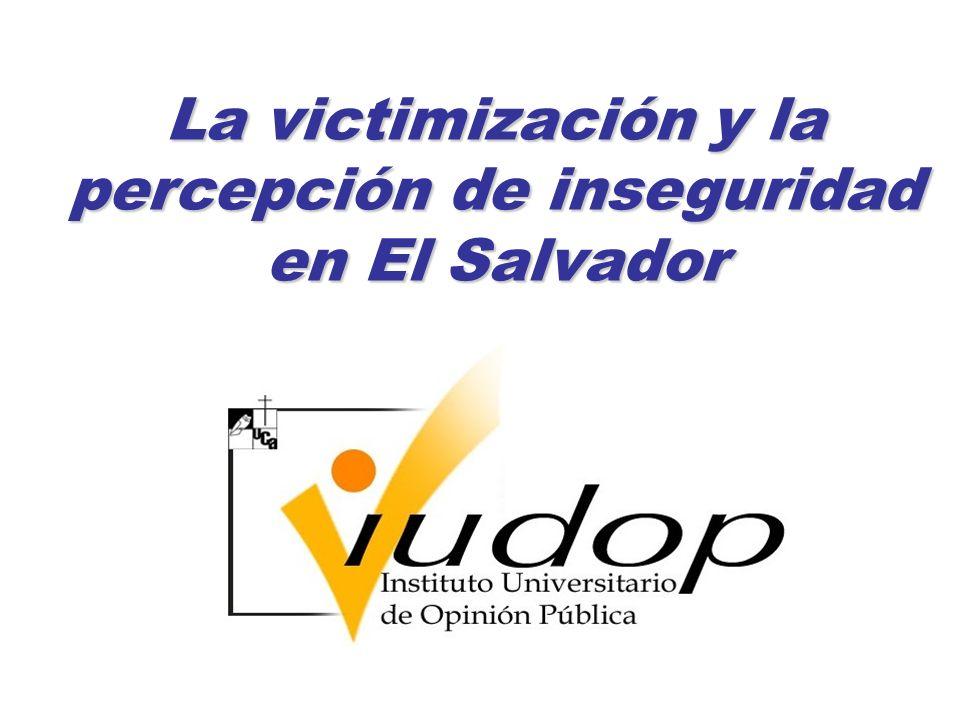 Victimización por diversos tipos de violencia en 2004 y 2009 (en %)
