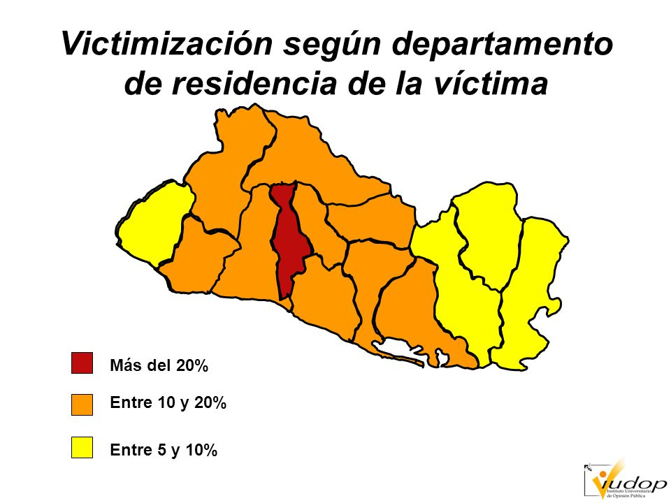 Victimización general según zona geográfica del país