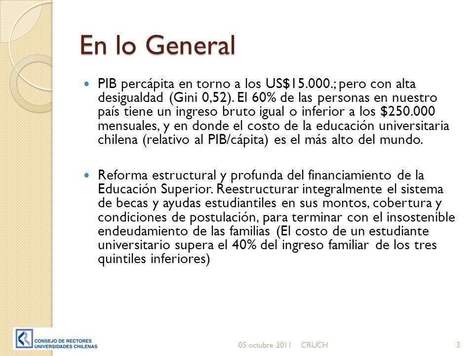En lo General PIB percápita en torno a los US$15.000.; pero con alta desigualdad (Gini 0,52).