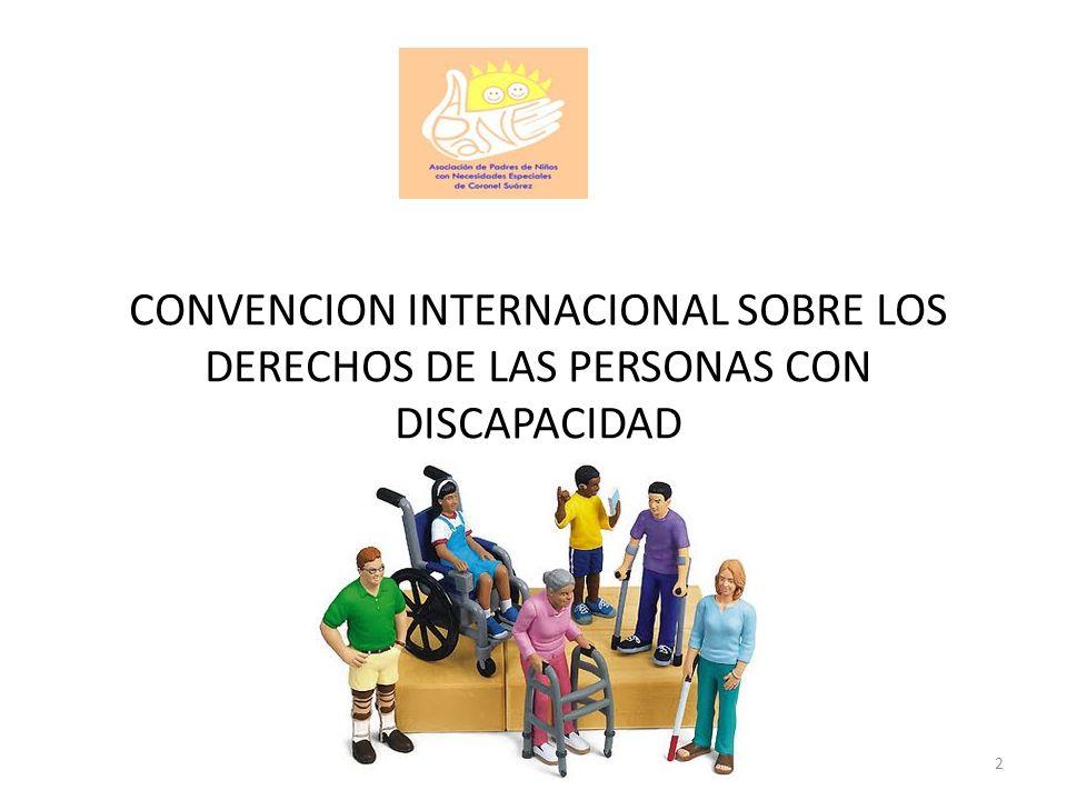 CONVENCION INTERNACIONAL SOBRE LOS DERECHOS DE LAS PERSONAS CON DISCAPACIDAD 2