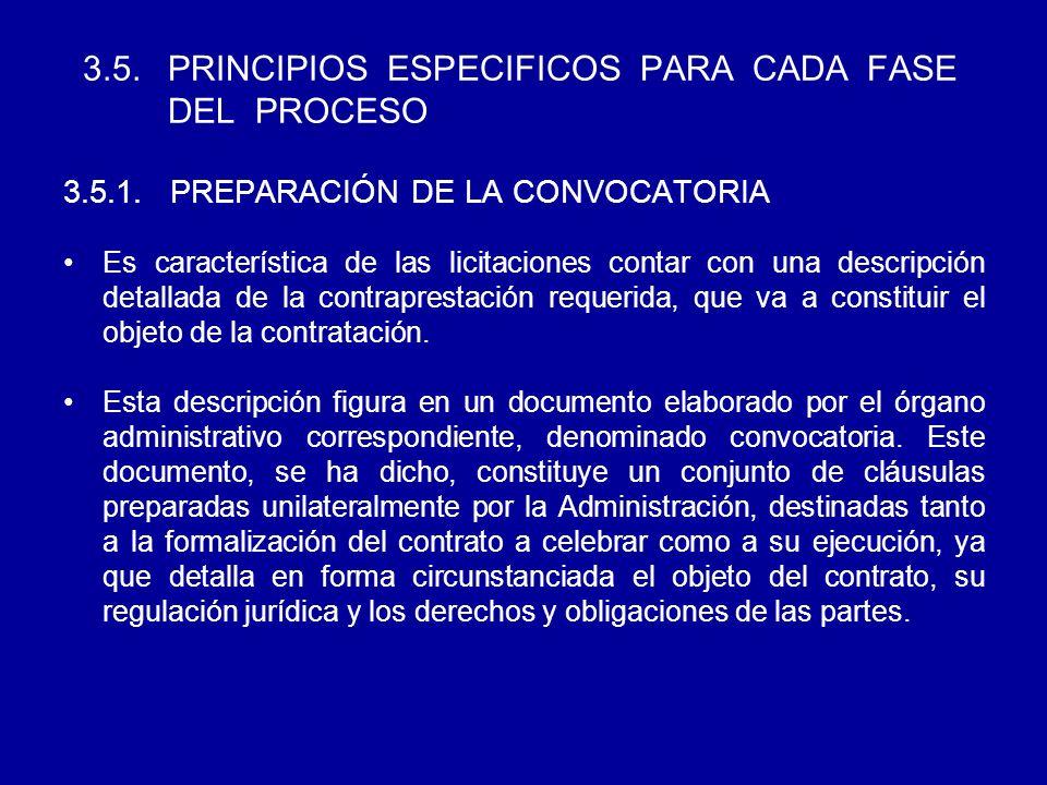 3.5. PRINCIPIOS ESPECIFICOS PARA CADA FASE DEL PROCESO 3.5.1.