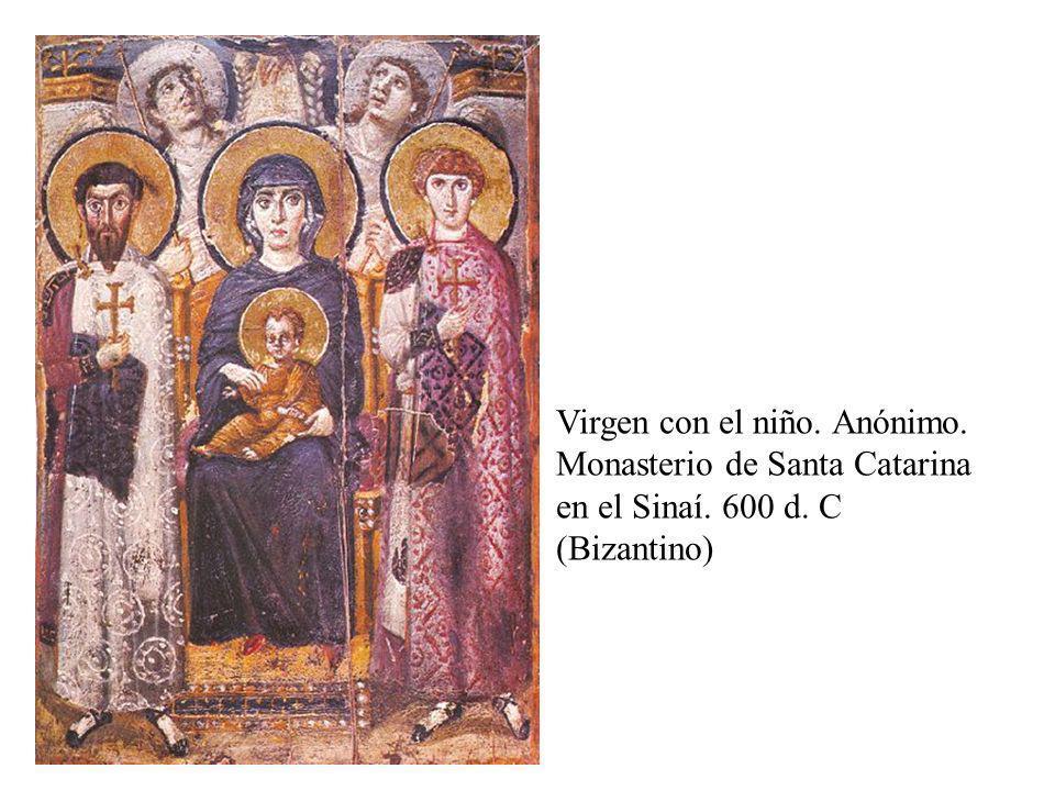 Encaustica Virgen con el niño. Anónimo. Monasterio de Santa Catarina en el Sinaí. 600 d. C (Bizantino)