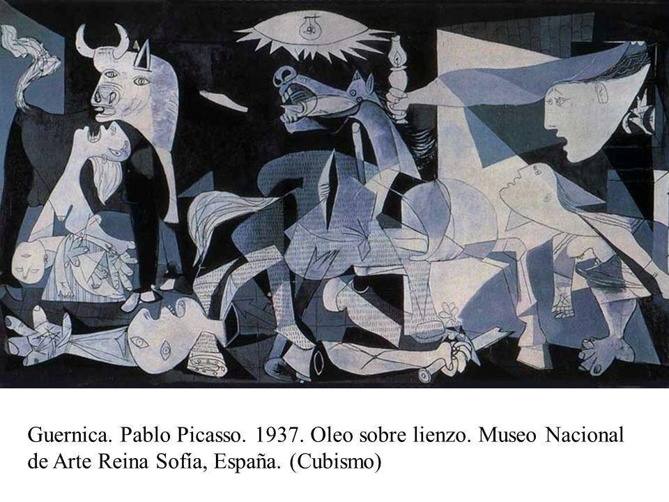 Abstracto Guernica. Pablo Picasso. 1937. Oleo sobre lienzo. Museo Nacional de Arte Reina Sofía, España. (Cubismo)