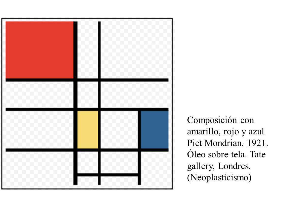 Asbtracto geometricoAbstracto geometrico Composición con amarillo, rojo y azul Piet Mondrian. 1921. Óleo sobre tela. Tate gallery, Londres. (Neoplasti