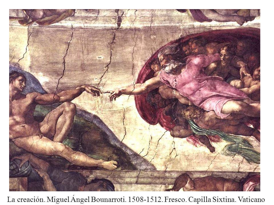 Fresco La creación. Miguel Ángel Bounarroti. 1508-1512. Fresco. Capilla Sixtina. Vaticano