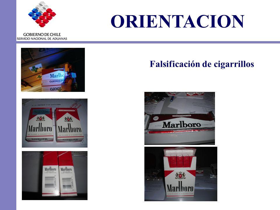 ORIENTACION Falsificación de cigarrillos