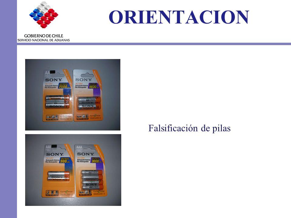 ORIENTACION Falsificación de pilas