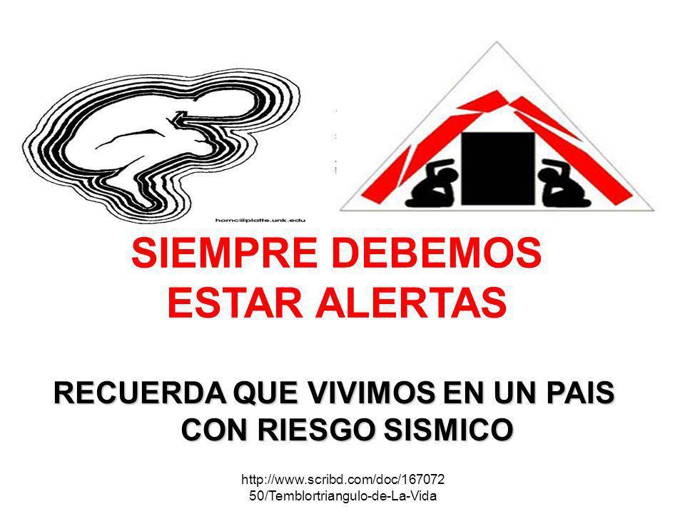 http://www.scribd.com/doc/167072 50/Temblortriangulo-de-La-Vida SIEMPRE DEBEMOS ESTAR ALERTAS RECUERDA QUE VIVIMOS EN UN PAIS CON RIESGO SISMICO