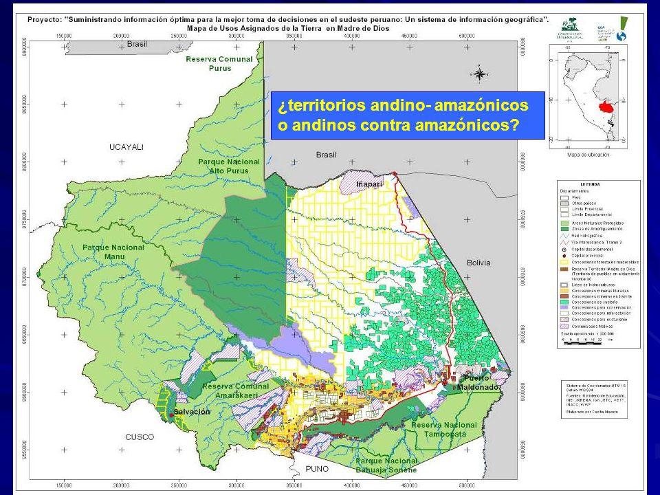¿territorios andino- amazónicos o andinos contra amazónicos?