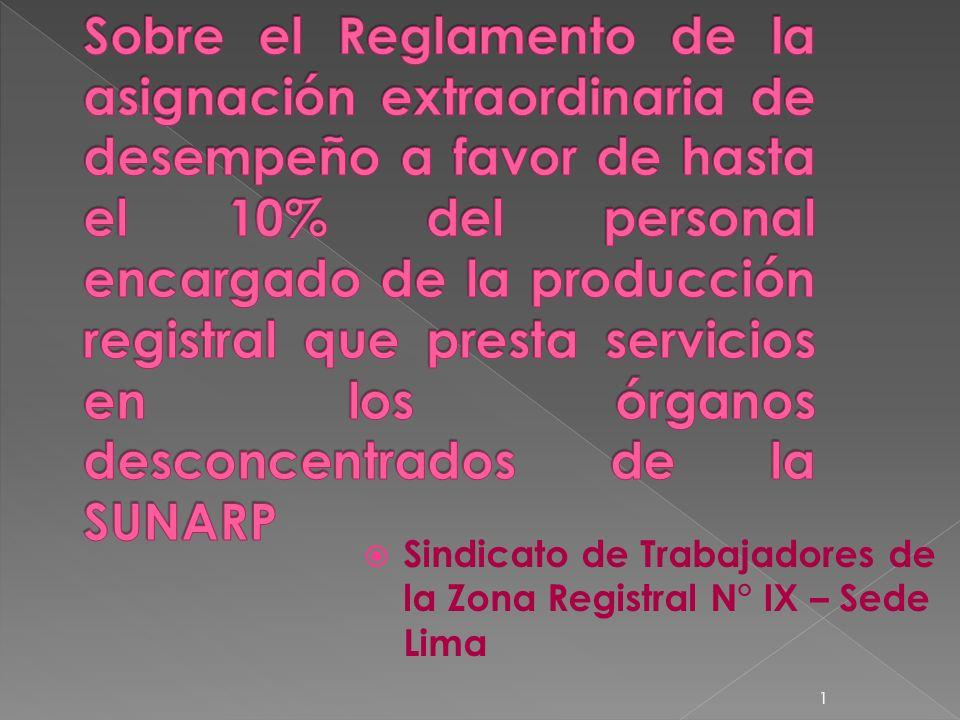 Sindicato de Trabajadores de la Zona Registral N° IX – Sede Lima 1