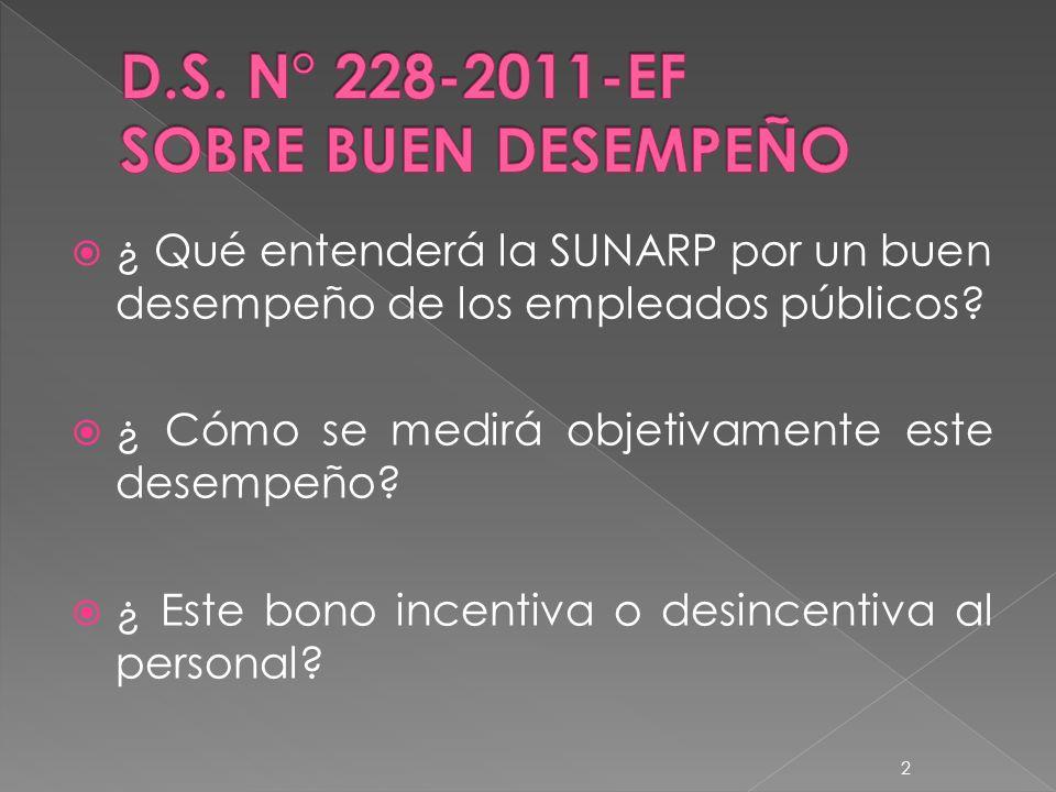 ¿ Qué entenderá la SUNARP por un buen desempeño de los empleados públicos.