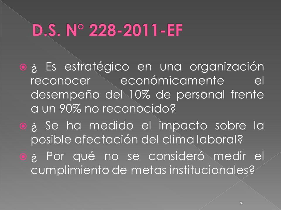 ¿ Es estratégico en una organización reconocer económicamente el desempeño del 10% de personal frente a un 90% no reconocido.