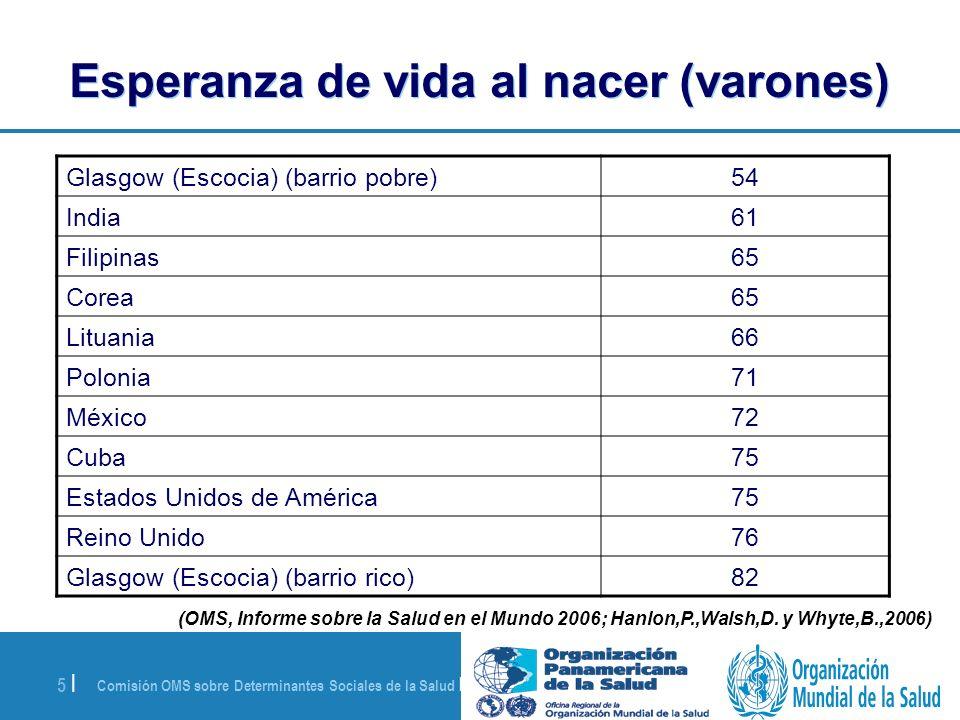 Comisión OMS sobre Determinantes Sociales de la Salud | 28 de agosto de 2008 26 | 2.