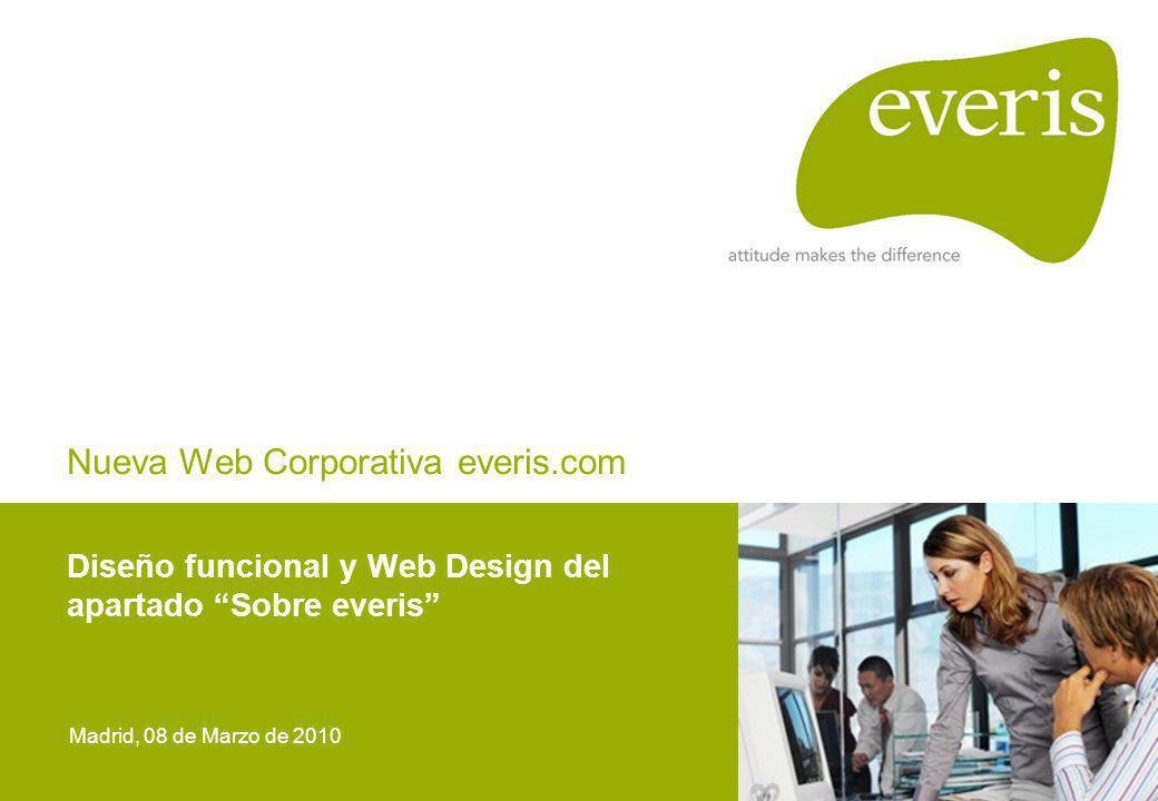 Nueva Web Corporativa everis.com Diseño funcional y Web Design del apartado Sobre everis Madrid, 08 de Marzo de 2010