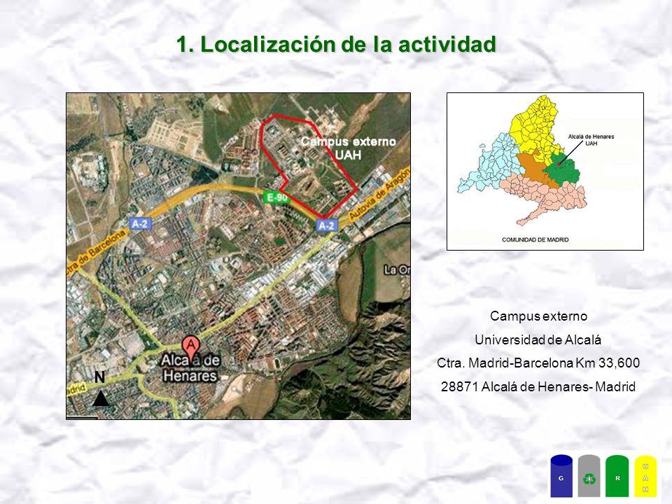 1. Localización de la actividad N Campus externo Universidad de Alcalá Ctra.