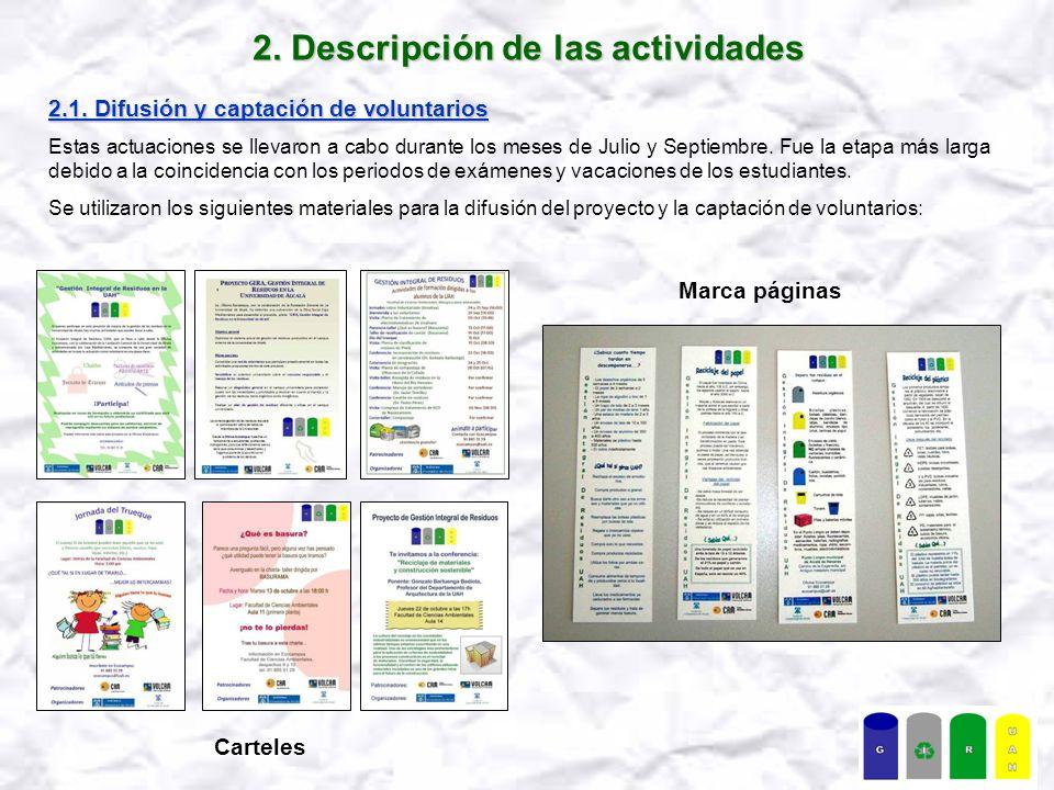 2. Descripción de las actividades 2.1.