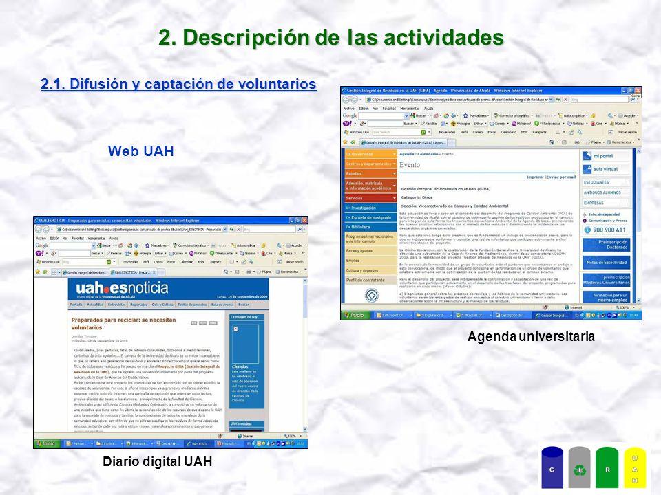 2.Descripción de las actividades 2.1.
