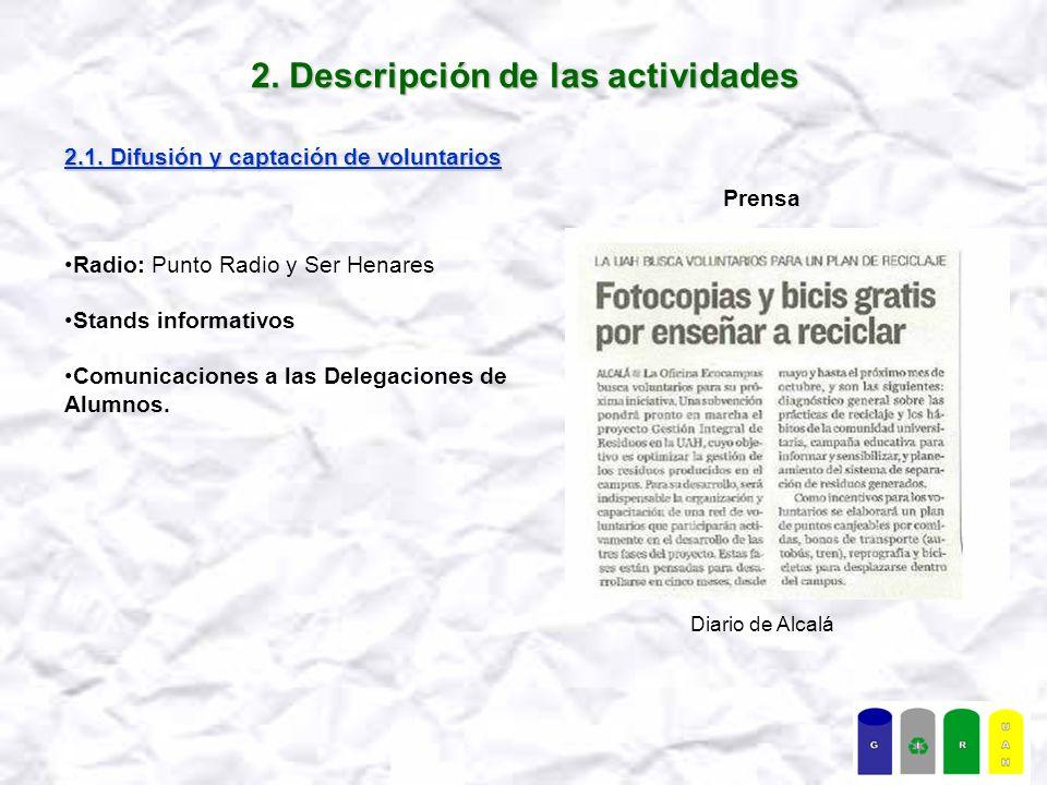 2.Descripción de las actividades 2.2.