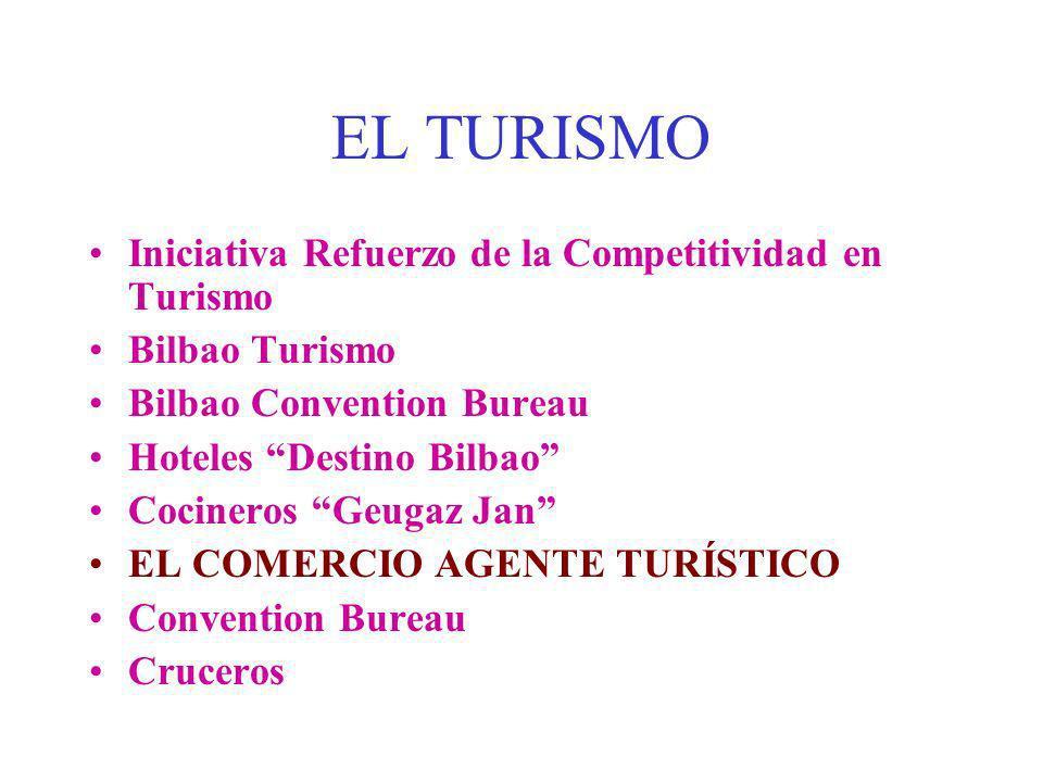 EL TURISMO Iniciativa Refuerzo de la Competitividad en Turismo Bilbao Turismo Bilbao Convention Bureau Hoteles Destino Bilbao Cocineros Geugaz Jan EL