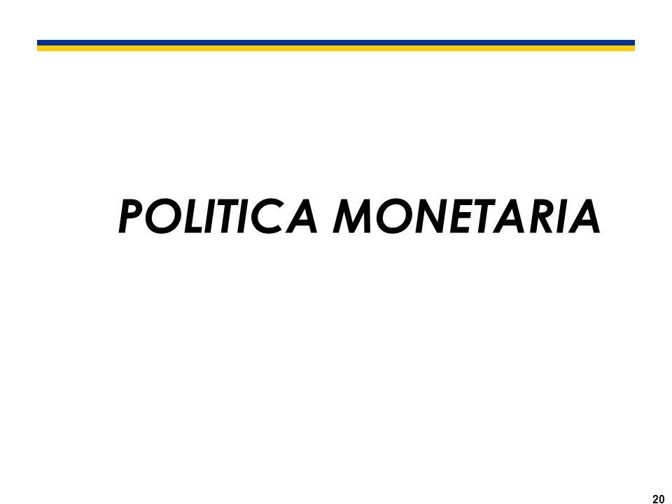 20 POLITICA MONETARIA