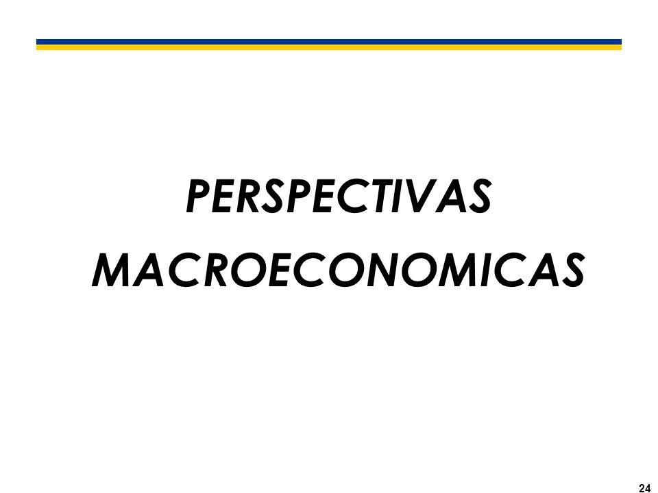 24 PERSPECTIVAS MACROECONOMICAS