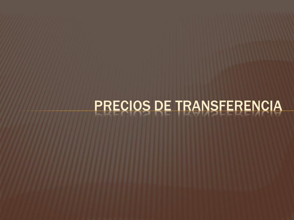 Los precios de transferencia son aquellos que se establecen en transacciones que se realizan entre diferentes ramos o divisiones de una misma empresa o grupo multinacional de empresas Precio que pactan dos empresas que pertenecen a un mismo grupo empresarial.